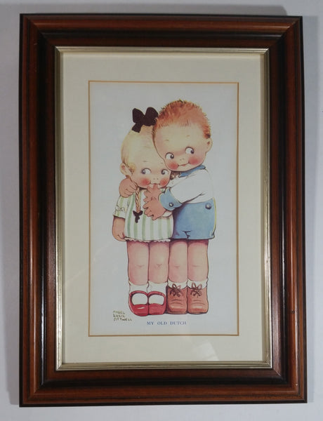 Rare Vintage Mabel Lucie Attwell 'My Old Dutch' Wooden Framed Print