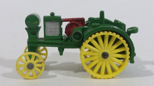 Ertl Millennium Farm Antique John Deere Waterloo Boy Tractor Green Yellow Red Die Cast Toy Farming Machinery Vehicle 1/64 Scale - Made in Korea - 31480