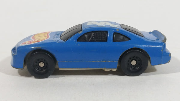 1998 Hot Wheels Racer Nascar #44 Blue Die Cast Toy Race Car Vehicle McDonald's Happy Meal