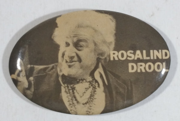 Vintage Rosalind Drool 'Narrator' from Saskatchewan Black and White Oval Shaped Pin