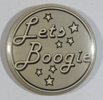 """Let's Boogie"" Star Themed Grey Round Circular Button Pin"