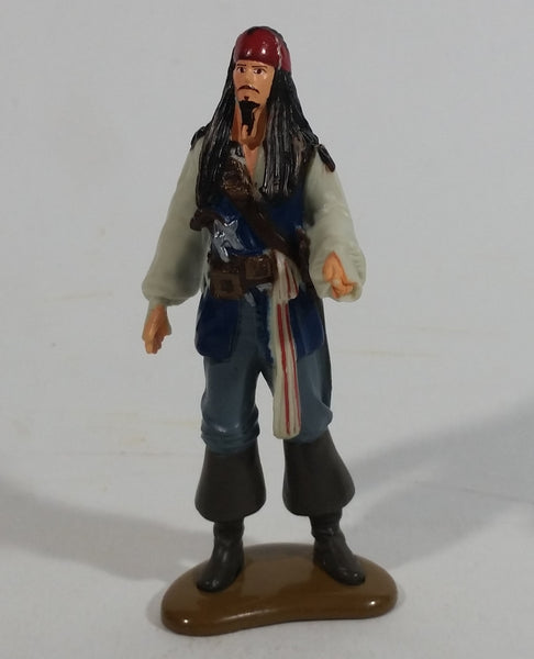 "DecoPac Disney Pirates of the Caribbean Movie Film Series Character Jack Sparrow Johnny Depp 3 3/4"" Tall Figure Cake Topper"