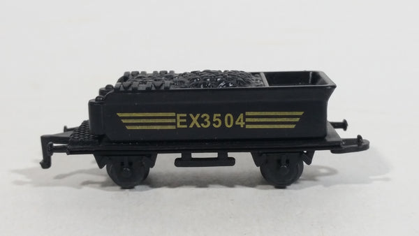1990s Soma Train Coal Hauler Car EX3504 Black Plastic Toy Railroad Vehicle