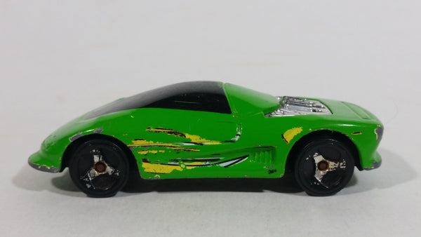 2000 Hot Wheels Buick Wildcat Green Plastic Body Die Cast Toy Car Vehicle