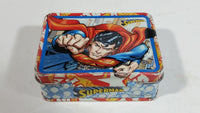 DC Comics Superman Super Hero Character Small Hinged Tin Keepsake Trinket Container