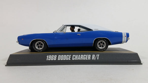Rare Pioneer 1968 Dodge Charger R/T Blue and White 1/32 Scale Slot Car Vehicle
