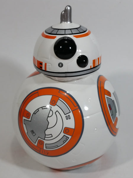 Star Wars BB-8 Droid Robot Character Orange and White Ceramic Coin Bank Collectible - Missing the plug