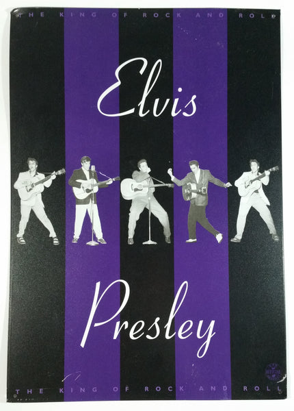 "1998 EPE Elvis Presley The King of Rock and Roll Purple and Black 11 3/4"" x 16 3/4"" Tin Metal Sign Music Collectible"