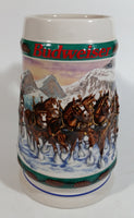 1993 Budweiser Holiday Stein Collection Special Delivery Ceramic Beer Stein By Artist Nora Koerber - Handcrafted in Brazil by Ceramarte