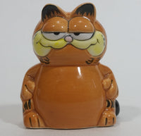 "Vintage Enesco Garfield Ceramic Cat Cartoon Character Toothpick Holder  2 3/4"" Tall"