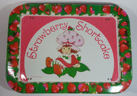 Vintage 1981 Strawberry Shortcake Dinner Lunch Fold Out Metal TV Tray