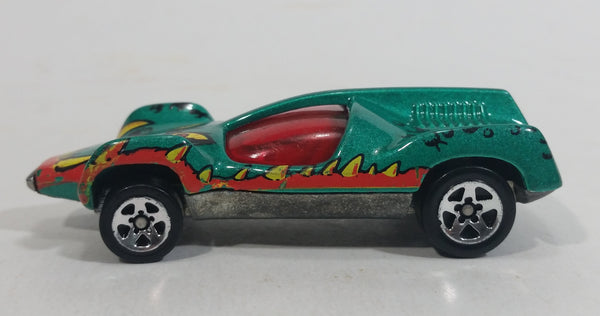 1996 Hot Wheels Street Eaters Speed Machine Metallic Green Die Cast Toy Car Vehicle