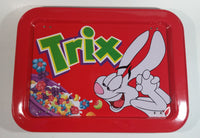 Trix Breakfast Cereal with Silly Rabbit Mascot Red Dinner Lunch Fold Out Metal TV Tray