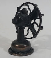 Vintage Miniature Antique Fan with Knob To Turn Blades Metal Pencil Sharpener Doll House Furniture Size