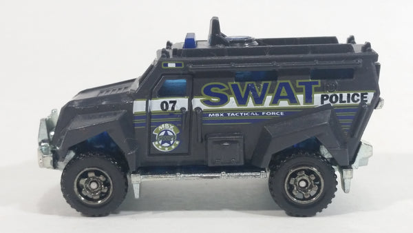 2016 Matchbox Heroic Rescue S.W.A.T. Truck Grey Die Cast Toy Emergency Response Police Cop Vehicle