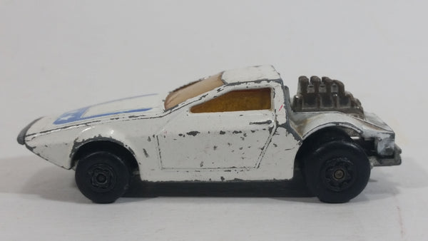 Vintage 1972 Lesney Matchbox Superfast Tanzara White No. 53 Die Cast Toy Car Vehicle Made in England