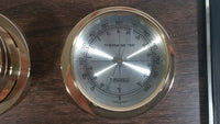 Vintage Springfield Instrument Company Thermometer & Humidity Weather Station
