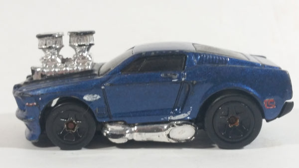 2003 Hot Wheels First Editions Tooned 1968 Mustang Dark Blue Die Cast Toy Muscle Car Vehicle