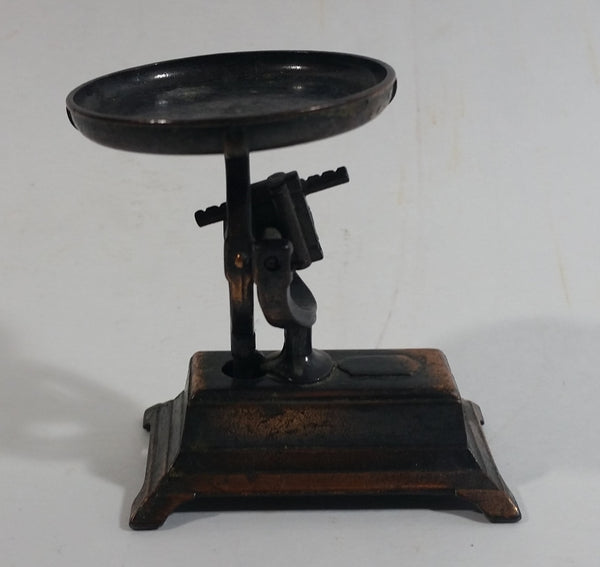 Vintage PlayMe Miniature Antique Weighing Balance Scale No. 967 Metal Pencil Sharpener Doll House Furniture Size
