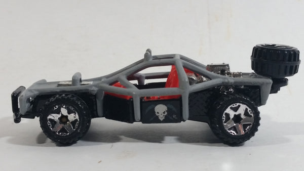 2008 Hot Wheels All Stars Roll Cage Grey Black Red Die Cast Toy Car Vehicle