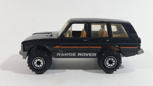 1996 Hot Wheels Range Rover Metallic Black Die Cast Toy Car Vehicle