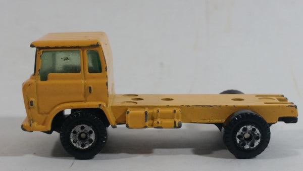 Vintage Yatming Semi Delivery Truck Yellow Die Cast Toy Car Vehicle