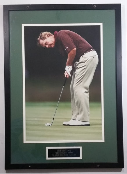 "Jack Nicklaus ""The Golden Bear"" 38 Year PGA Tour Legend Framed Picture 16"" x 23"" Golf Sports Collectible"