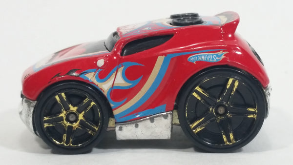 2010 Hot Wheels Race World Cave Rocket Box Red Die Cast Toy Car Vehicle