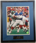 "Jim Kelly Buffalo Bills NFL 1986-1996 35,467 Career Passing Yards Framed Picture 17"" x 20"" Football Sports Collectible"