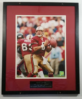 "Steve Young San Francisco 49'ers NFL 1985-1999 Most Accurate Passer In 80 Year NFL History Framed Picture 17"" x 20"" Football Sports Collectible"