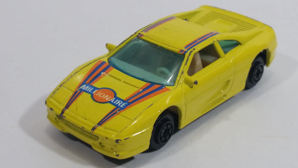 Vintage Yatming Ferrari 355 Millionaire Yellow Die Cast Toy Luxury Sports Dream Car Vehicle