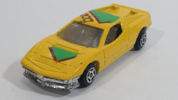 Summer Marz Karz No. 8805 Ferrari Testarossa '2001' Yellow Die Cast Toy Exotic Race Car Vehicle