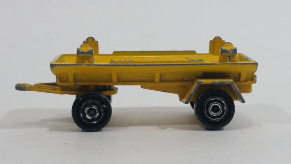 Majorette Shell Fuel Tanker Transport Trailer Yellow Die Cast Toy Car Vehicle 2152700