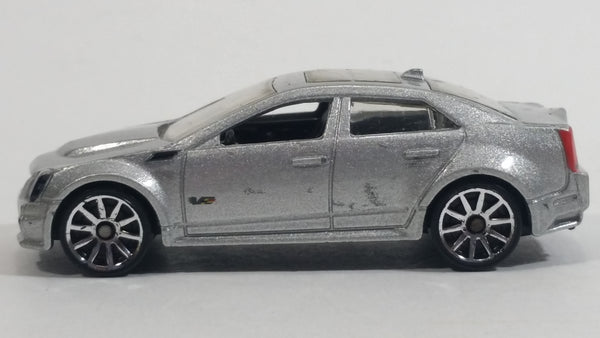 2010 Hot Wheels '09 Cadillac CTS-V Metalflake Silver Grey Die Cast Toy Luxury Car Vehicle