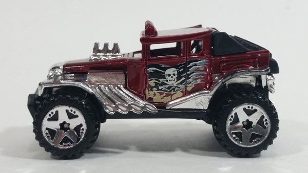 2013 Hot Wheels Desert Stunt Force Baja Bone Shaker Metalflake Red Die Cast Toy Car Vehicle
