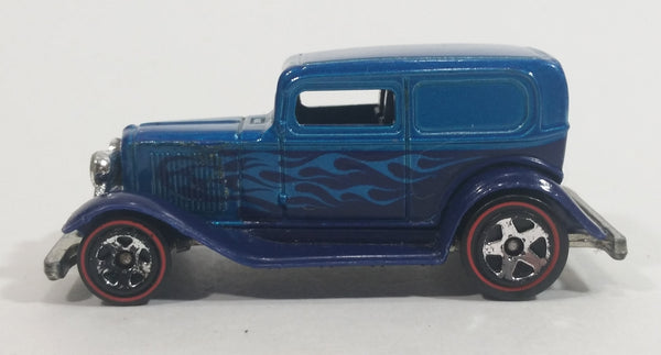 2008 Hot Wheels All Stars '32 Ford Delivery Truck Metalflake Blue Red Line Die Cast Toy Car Vehicle