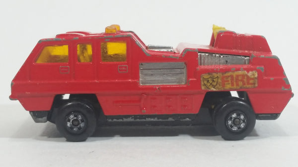 Vintage 1975 Lesney Matchbox Superfast No. 22 Blazed Blaster Red Fire Truck Die Cast Toy Firefighting Vehicle