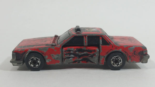 1985 Hot Wheels Crack-Ups Fire Smasher Crash Test Vehicle Red Die Cast Toy Car Vehicle with Flipping Driverside Door
