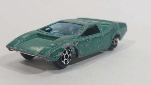 Vintage 1970s TinToys W.T. 20T Karina 1700 Emerald Green Die Cast Toy Sports Car Vehicle - Hong Kong