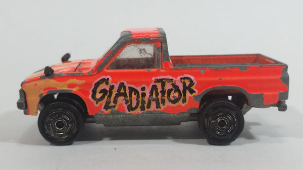 Rare Majorette Toyota Pick-up Truck 4x4 Neon Orange Gladiator No. 292 Die Cast Toy Car Vehicle with Opening Hood