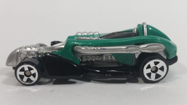 2002 Hot Wheels Saltflat Racer Green Die Cast Toy Car Vehicle McDonald's Happy Meal