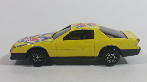 Yatming Chevrolet Camaro Z-28 #21 Yellow No. 801 Die Cast Toy Car Vehicle
