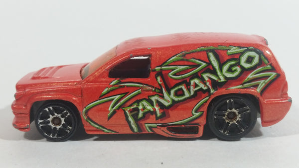 2001 Hot Wheels Fandango Orange Die Cast Toy Car Vehicle