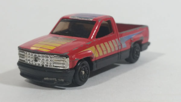 Yatming 1990 Chevrolet 1500 Truck Red No. 822 Die Cast Toy Car Vehicle