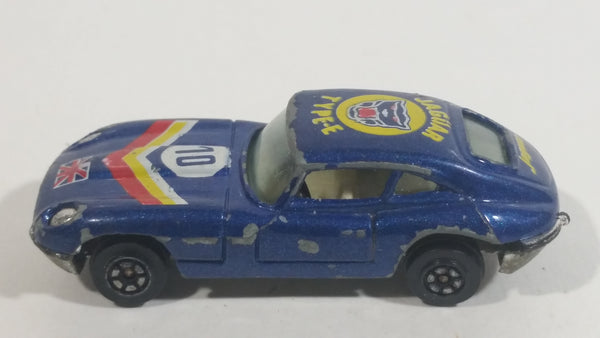 Yatming Jaguar Type-E #10 Dark Blue With Union Jack No. 1010 Die Cast Toy Luxury Car Vehicle