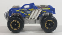 Zuru Metal Machines Monster Truck Blue and Chrome Die Cast Toy Car Vehicle