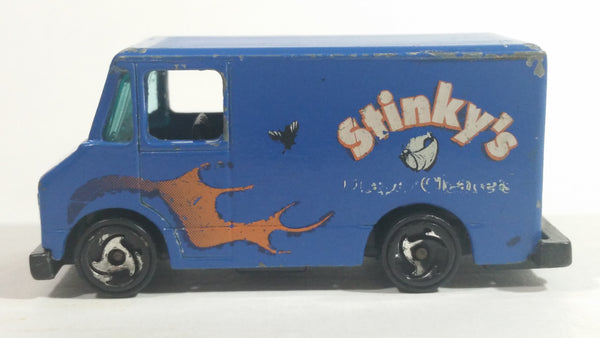 1999 Hot Wheels House Calls Delivery Truck Blue Die Cast Toy Car Vehicle