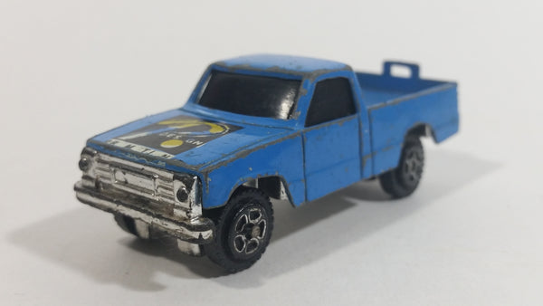 Vintage 1980s Road Champs Promotion Design Pickup Truck Blue Die Cast Toy Car Vehicle