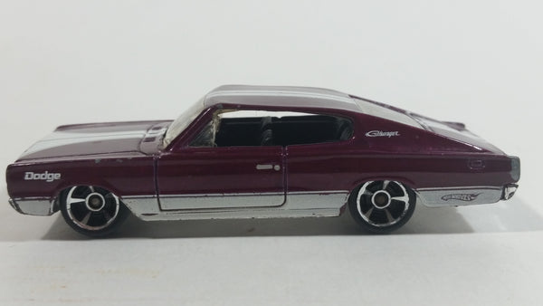 2010 Hot Wheels Muscle Mania '67 Dodge Charger Maroon Die Cast Toy Muscle Car Vehicle