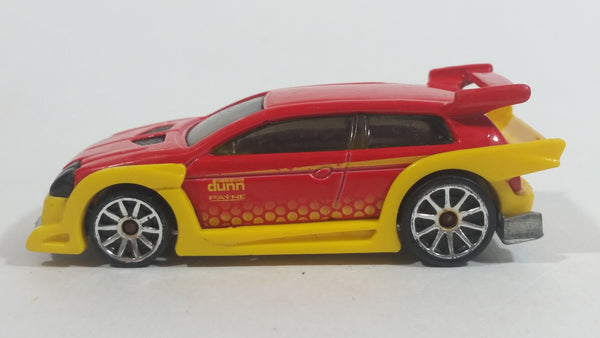 2010 Hot Wheels Hot Tunerz Flight 03 Red with Yellow Trim Die Cast Toy Car Vehicle